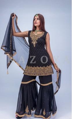 Kazoya Designer Sharara Suit